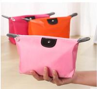 kleine kasten-handtaschen großhandel-heißer Verkauf gute Qlaity Dame Kosmetiktasche kleine wasserdichte Knödel Aufbewahrungstasche Waschbeutel Clutch Geldbörse