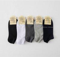 calcetines al por mayor-Venta al por mayor-20 pares / lote de apertura corta calcetines deportivos de color puro calcetín casual para hombres 6 colores envío gratis