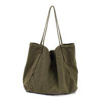 сумочки ручной работы оптовых-2018 Ladies Cloth Canvas Tote Bag Handmade Cotton Shopping Travel Women Handbags Folding Shoulder shopper Bags bolsas de tela