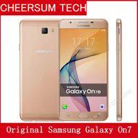 Wholesale Dual Sim 4g Mobile - Original Samsung Galaxy On7 G6000 Mobile Phone 5.5''13MP Quad Core 1280x720 Dual SIM 4G LTE Unlocked refurbished Mobile phone 5pcs free DHL