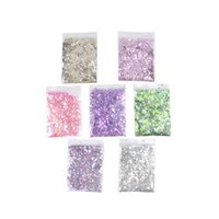 Wholesale art hexagon glitter online - 10g Mixed Nail Art Glitter Hexagon Acrylic Glitter Mixes Nail Sequins colors Art Decorations fashion Bar dress up