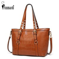 6c78a7344d Funmardi famoso marchio borse donna di lusso coccodrillo borse donna  tracolla vintage pu borse crossbody in pelle signore WLHB1776