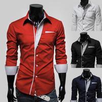 Wholesale korean new design shirt - 2016 New Dress Fashion Quality Long Sleeve Shirt Men Korean Slim Design Formal Casual Male Dress Shirt