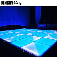 Wholesale stage lighting led dance floor resale online - 4pcs mm LEDs RGB Acrylic IP65 LED Dance Floor For Stage Light Wedding Party Car Show Disco