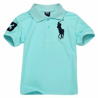 Wholesale baby boys summer clothing for sale - hot Brands T shirts Cotton Tees Kids Lapel T shirt New Short sleeves Boys Clothing Classic Children Boys Girls Tops Polos t Shirt