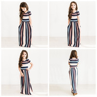 Ball Gowns for sale - Girls Dresses Summer Girls Short Sleeve Striped Princess Dress Kids Dresses Girsl Beach Striped Dresses Kids Clothing AAA297