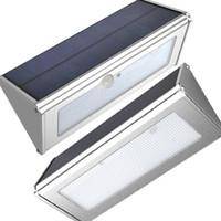 ingrosso luci di movimento luminose-Sensore di movimento solare a LED in alluminio a 48 LED Super Bright 1000lm 4 modalità Lampada da parete impermeabile per esterni da giardino