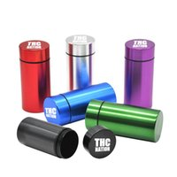 Wholesale water proof rubber - Air Water Proof Rubber ring Air Tight Aluminum Airtight Cylinder Stash Case jar Tobacco Herb Storage Bottles Box