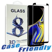 anti glare samsung 2018 - Case Friendly For Samsung S9 S9 plus Tempered Glass Bubble Free Full Cover 3D Screen Protector For Samsung Note 9 8 S8 S7 With Package