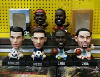 Wholesale mini doll houses - Soccerwe 2018 Soccer Dolls Lionel Messi Ronaldo Higuain Sneijder Neymar Mourinho Figure Statue 12.5 cm Height Mini Resin Toy Gift