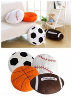 Wholesale pounding toys - Softball Soccer Cushion Sport Baseball Pillow Home Decor Soccer Ball Stuffed Plush Toy World Cup Gift