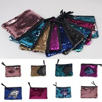 Wholesale hard glitter clutch bags for sale - Women Girls Sparkling Sequins Glitter Mermaid Handbag Evening Clutch Bag Wallet Purse Coin Change Cosmetic Bag Colors OOA3982