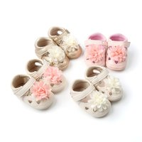 Wholesale wholesale cheap girl shoes - Cheap Sweet Baby girl shoes Baby First Walkers Flower Heart hollow out PU shoes Soft leather 0-18M 2018 Summer