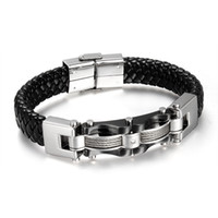 Wholesale bracelets mix order for sale - Group buy Christmas gift mixed order brand new men s stainless steel bracelet leahter bracelets source factory supplier fashion jewellries seller