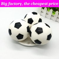 Wholesale football soft toys resale online - Squishy Football basketball cm cm huge Slow Rising Soft Squeeze Cute Cell Phone Strap gift Stress children toys Decompression Toy