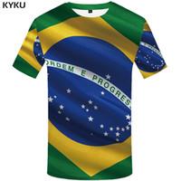 Wholesale Brazilian Clothing - KYKU Brand Brazilian flag T shirt Brazilian flag T-shirt 3d t-shirt anime femme male shirt styles t men funny mens clothes