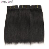 yaki perm human hair weave 2018 - human hair bundles yaki shining star high quality low price yaki hair weave 3 bundles weft