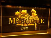 signos margaritaville al por mayor-LE110 - Jimmy Buffett Margaritaville LED Neon Light Sign artesanías de decoración del hogar