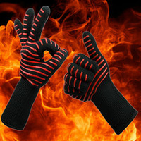 Wholesale Oven Design - BBQ Gloves Microwave Oven Gloves 7 designs Heat Resistance 500 Centigrade Fire prevention Aramid glove Silicone Baking Gloves YYA1004
