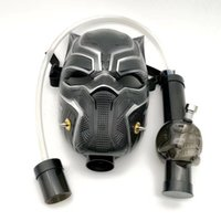 pipes à fumer en acrylique achat en gros de-Masque à gaz fumant la pipe à eau de bong