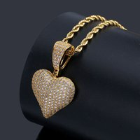 Wholesale geometric necklaces for sale - mens necklace hip hop jewelry with Zircon iced out chains Vintage High grade Geometric Pendant necklace stainless steel jewelry