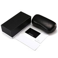 Wholesale durable boxes resale online - Brand Glasses Case Retro Portable Durable Professional Vintage Sunglasses Eyeglasses Storage Holder Retro Box Packaging with Card Cloth