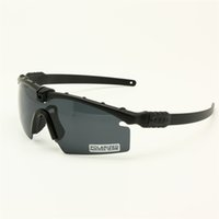 Wholesale military framing - Polarized Army Sunglasses Ballistic Military Goggles Men Frame Anti UV 3 4 Lens Night Vision Combat War Game Eyeshields