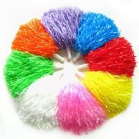 Wholesale dancing paper - Handheld Flower Ball Cheer Dance Sport Supplies Cheering Fancy Pom Poms Multi Color New Arriver 2hd C R