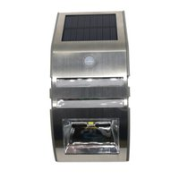 ingrosso luce del cortile principale-Luce solare senza fili luminosa Solar Powered 2LED Motion Sensor Street Outdoor Light per Yard Garden Home