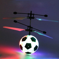Wholesale light up football toy - Electric RC Flying LED Ball Football Infrared Induction Aircraft LED Flash Light-Up Toy