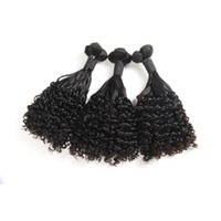 Wholesale african human hair extensions for sale - Group buy Brazilain Fumi Human Hair Wet And Wavy Curl inch African Virgin Hair Extensions Fumi Water Wave Curly Natural Color