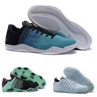 Wholesale horse shoe size - 2018 High Quality Kobe 11th Generation Knit Elite Basketball Shoes Kobe 11 Red Horse Monkey KB 11 Sports Basketball Shoes Size 40-46
