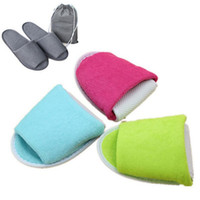 Wholesale hotels business - Disposable Folding Slippers Women Men Travel Business Trip Hotel Club Portable Home Guest Slippers With Bag OOA4183