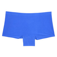 Wholesale Invisible Shorts - Lot of 4 Low Rise Ultra Thin Lady Underwear Seamless Women Hipster Standard US Size Panties Sexy Invisible Lady Thong Boyshorts Wholesale