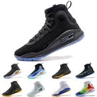 Wholesale Mvp Shoes - Wholesale Under Armour UA Stephen Curry 4 men basketball shoes Gold Championship MVP Finals Sports Sneakers trainers outdoor designer shoes