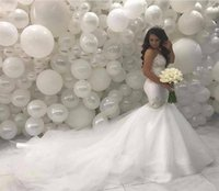 Wholesale east african wedding dresses online - African Middle East Crystals Mermaid Wedding Dresses Sweetheart Beading Wedding Gowns For Brides Court Train Plus Size Bridal Dresses