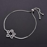 Wholesale star jewellery online - Wild Adjustable Pentagram Bracelet For Women Gift Party Wedding Jewellery Star Bracelets Silver Color