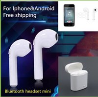 Wholesale bluetooth headset manufacturers - New I8 or I7 Bluetooth wireless stereo 4.1 mini sports earplug both ears manufacturer wholesale Bluetooth headset