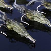 deniz solucanı lures toptan satış-10 adet / grup Deniz Balıkçılık Lures Karides Solucan Yumuşak Yem Yapay Kalamar Fiş ile Karides Cazibesi Keskin Krank Kanca Kurşun Sazan Pesca Mücadele