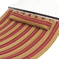 hamacas de camuflaje al por mayor-Tela acolchada con hamaca con barra de esparcidor de tamaño doble, resistente, elegante