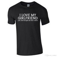 lustige liebesgeschenke großhandel-ICH LIEBE MEINE FREUNDIN Herren Tshirt T-Shirt Top Funny Valentines Witz Freund Geschenk