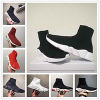 herren schuhkartons großhandel-Neue Paris Speed Runner Knit Socke Schuh Original Luxus Trainer Runner Turnschuhe Rennen Mens Frauen Sportschuh Ohne Box