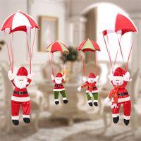 fallschirmspringende weihnachtsdekoration großhandel-4 Stil Weihnachtsschmuck Hängen Dekorationen Fallschirm Weihnachtsmann Schneemann Ornamente für Party Weihnachten Innendekorationen Geschenk