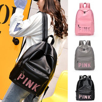 Wholesale Sequin Swim - Fashion Pink Style Girls Backpacks PU Waterproof Travel Bags Teenager Backpack Students School Bags Sequins 3 Colors Size 30*41*13 cm