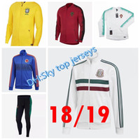 Wholesale soccer jersey portugal - Best quality 18 19 jacket pants soccer jerseys 2018 2019 Mexico Colombias Portugal all zipper jacket jersey jacket