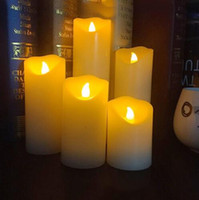 Wholesale real wax flameless candles for sale - Group buy Flameless LED electronic candle Made by real wax with ficker light for party festival light decoration and christmas candle
