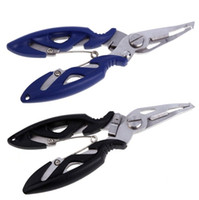 Wholesale rubber pliers resale online - Fishing Multifunctional Plier Stainles Steel Carp Fishing Accessories Fish Tackle Lure Hook Remover Line Cutter Scissors Black