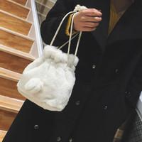 дизайнерские сумочки faux оптовых-Luxury Handbags Women Bag Designer Faux Fur  Female Mini Messenger Bag Winter Ladies Crossbody Tote Bags Hangbag New