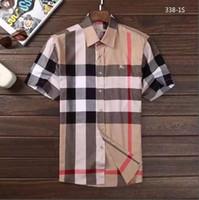 macho listrado venda por atacado-Negócio de marca dos homens camisa Ocasional dos homens de manga longa listrada slim fit camisa masculina social masculino T-shirt nova moda homem verificado camisa GG01