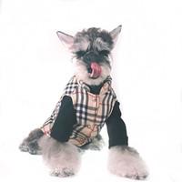 ropa de perro chalecos al por mayor-Perro de mascota Chaleco de rayas de invierno Teddy Puppy Schnauzer Ropa de moda Moda sin mangas Outwears For Pet Cat Dog